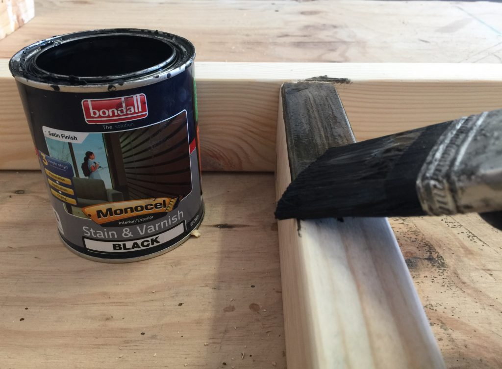 Use monocel stain and varnish to seal the wood