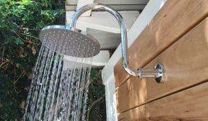 DIY Outdoor Shower Install - With Hot Water!