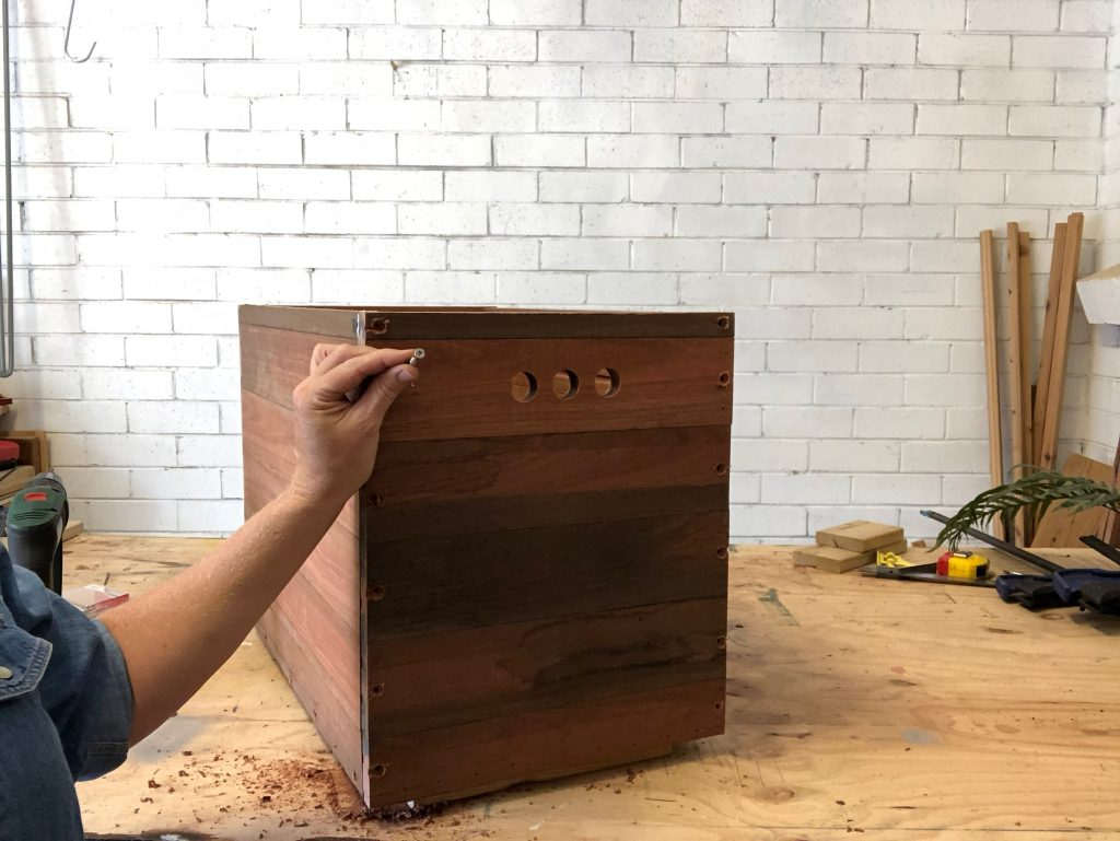 glue and use a nail gun to construct the body of the box
