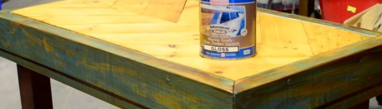 How To Create A Coffee Table From An Old Pallet and Monocel