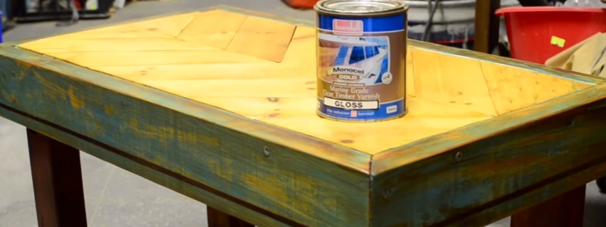 How to create a coffee table from an old pallet and - How to make a table from pallets ...