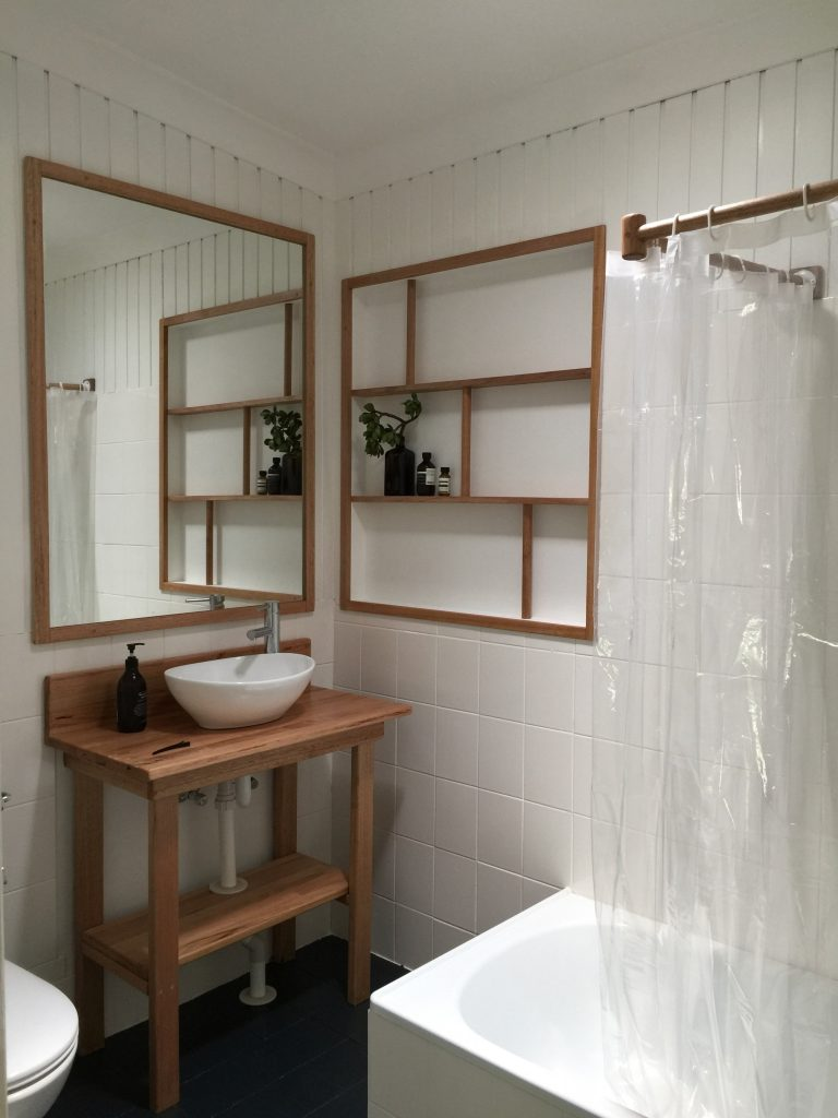 Bathroom Makeover Challenge Part 5: Make a Unique Timber Curtain Rail