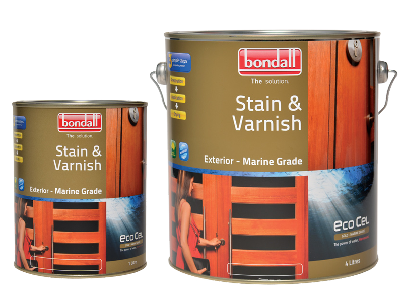 Ecocel Gold Stain and Varnish