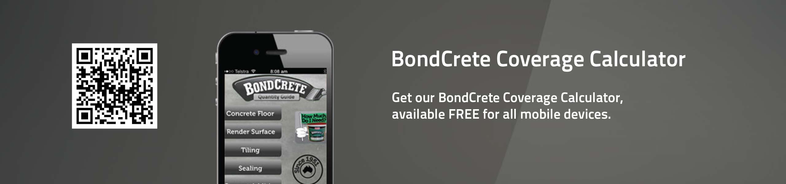 Bondcrete Coverage Calculator App Feature