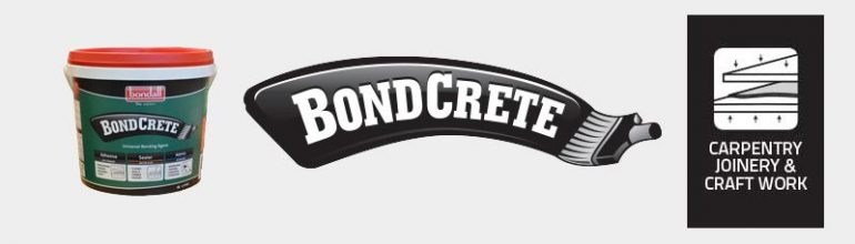 Bondall BondCrete as an Adhesive for Carpentry, Joinery and General Craftwork